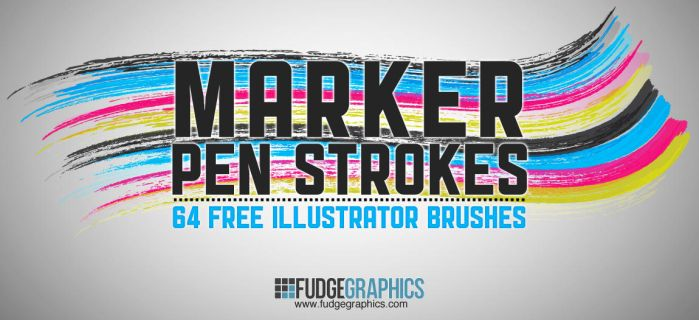 Marker Pen Strokes AI Brushes by fudgegraphics