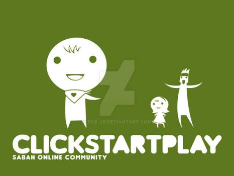 clickstartplay t shirt design by rob-jr