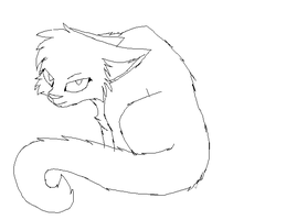 cat depressed lineart by ronythekat
