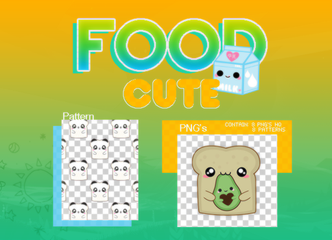 CUTE FOOD PACK by MoonSober