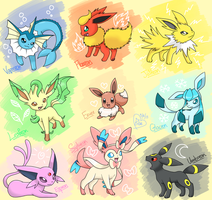 The Eeveelutions by BluuKiss