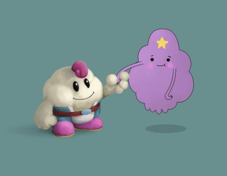 Prince Mallow and Lumpy Space Princess by Domiticus