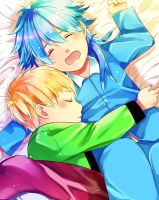 Little Aoba and Noiz by Ita-Ita-san