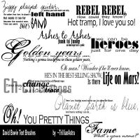 David Bowie text brushes by TrillianAstra