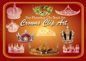 24 Crown Clip Art PS Brushes 2 by fiftyfivepixels