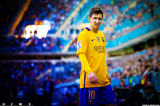 Retouching - lionel messi by DesignerSouhail