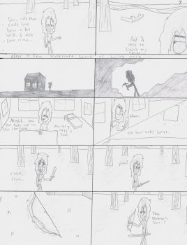 Until the End page 7 (UNCOLORED) by Qille