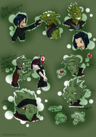 Gecko boys and stalking girls by HiSS-Graphics