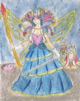 Queen Sectonia gijinka by kingofthedededes73