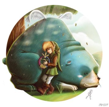 Moosh and Link by yandrk
