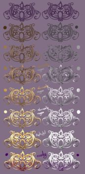 How I paint - Jewelry - Gold'n'Silver by rika-dono
