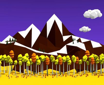 Landscape [Low Poly] by Lazzarona