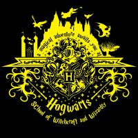 Welcome to Hogwarts (yellow) by johnnygreek989