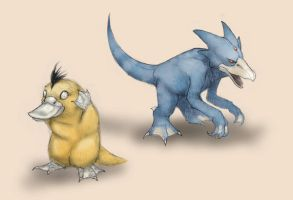 Psyduck and Golduck