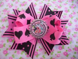 Queen of Hearts Bow by BowtiqueNoir