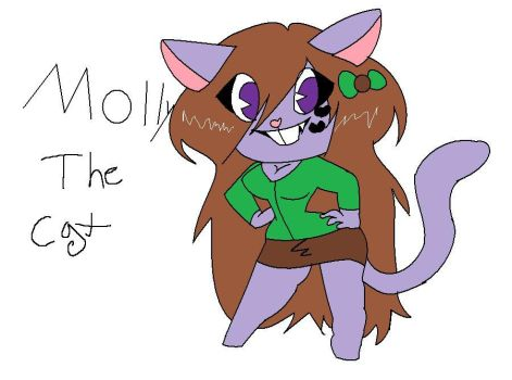 Molly the cat by HTFMollythecat1