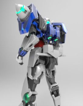 GN 00 Back View by x08shinta