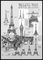 The Eiffel Tower by AGartworks