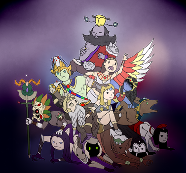 Smite - Death God Pile! by Kaiology
