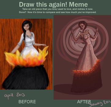 Draw this again: Catching Fire by Flomaniaque