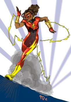 Girl Flash by BeckyDeVendra