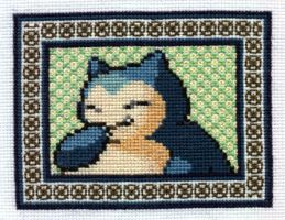 Portrait of Snorlax by starrley