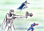 Rom spaceknight, Captain America and Sabra by csuhsux