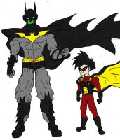 Piccolo and Gohan as Batman and Robin Colored by Axel-Knight