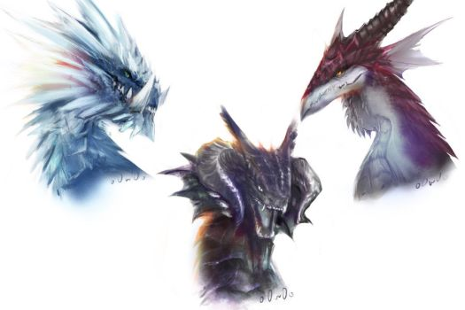 Vindictus-The three dragons by o0w0o