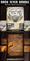 Rock Party-Concert Flyers Templates Bundle by Hotpindesigns