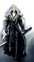 Sephiroth from FFVII by AHague