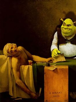 Painting with Shrek by lilxtreme