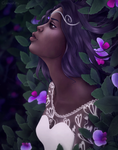 Dusk Between the Orchids by CosmosKitty