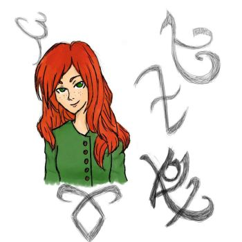 Clary Fray Colored by ErikNightxTayLautner