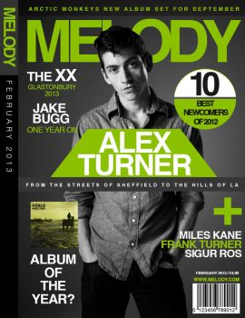 'Melody' Magazine Mock Cover Design by JamieKempDesigns