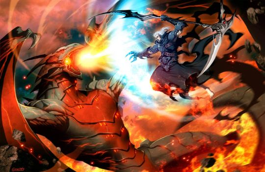 Hades vs Therion by GENZOMAN
