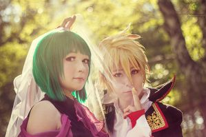 Vocaloid: Gumi and Len Dragon by Otohime311