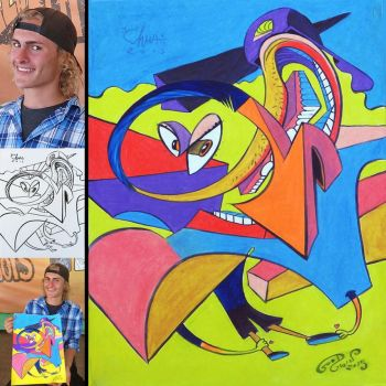 caricature collab eric goodwin color color! 2015 by chrisCHUA