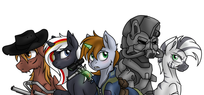 Fallout Equestria by Piecee01 - Vectorized by StarlessNight22