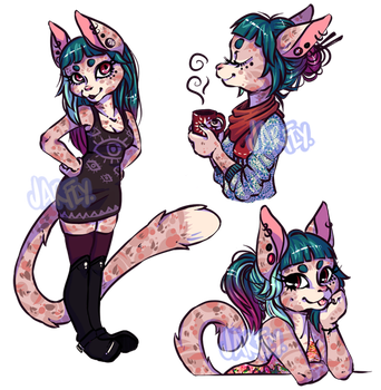 [CLOSED] Feline Anthro OC/Fursona by Jarfly