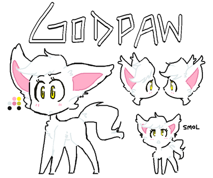Godpaw REFERNCE SHEET by GwenCupcakes