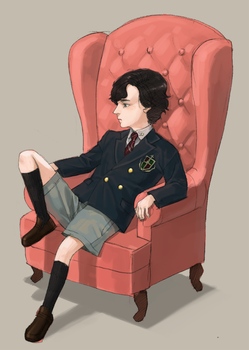 young sherlock by cosom