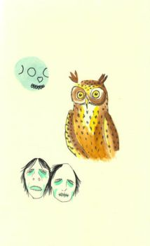 owls and zombies by mysmileisweak