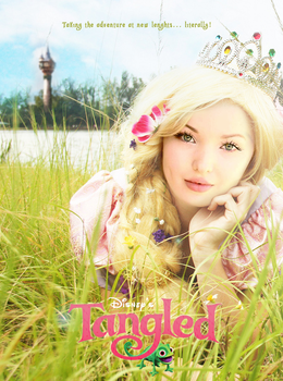 Tangled Movie Poster with Dove Cameron by xBrokenRose