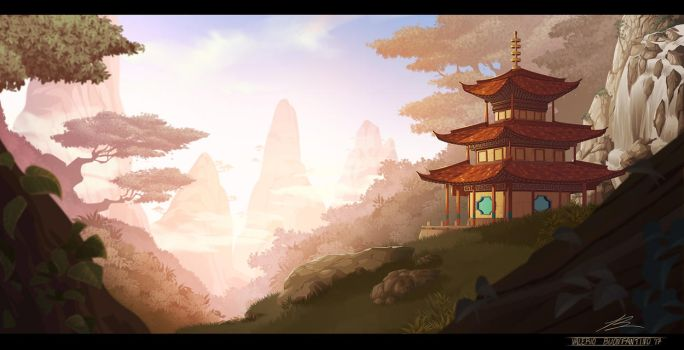 Themple of China by dreelrayk