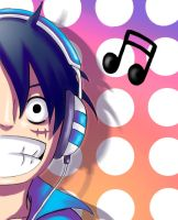 Luffy Loves Music :3 by Rali-95