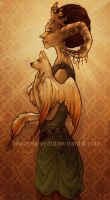 An Empress and her pet by concentriccookies