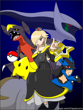 Super Smash Club Fandom Art - Rosalina and Pokemon by LucarioShirona
