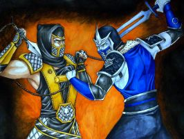 MKD Scorpion vs Sub-Zero by Grace-Zed