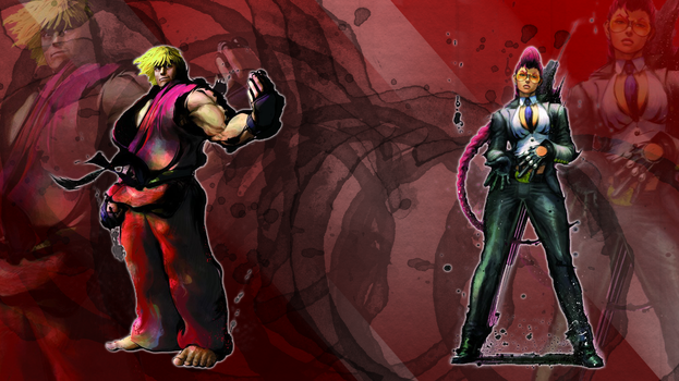 SF4 Ken and C. Viper by Nesk01